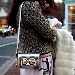 Auth Dolce & Gabbana mini/belt mini bag Metallic